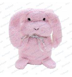 Pluszowy kocyk maskotka 2w1 hipoalergiczny - królik
