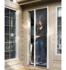 Moskitiera Na Drzwi W Rolecie Brązowa 1,25 X 2,2m Siatka Na Komary